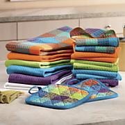 18 piece gemstone kitchen towel set