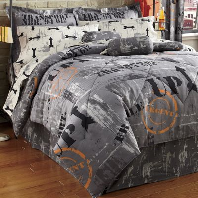 Warehouse District Complete Bedding Set Panel Pair And Duffle Pillow