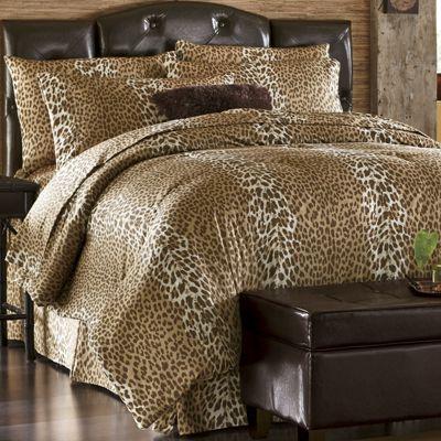 Leopard Chic Faux-Fur Comforter Set