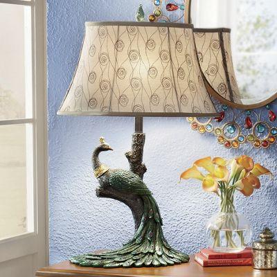 Peacock Table Lamp