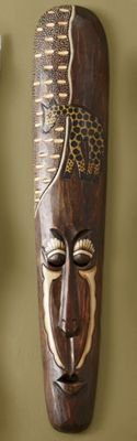 Hand-Carved Traditional Mask
