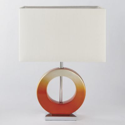 Orange ombre lamp