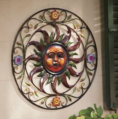 Metal Sun Wall Art