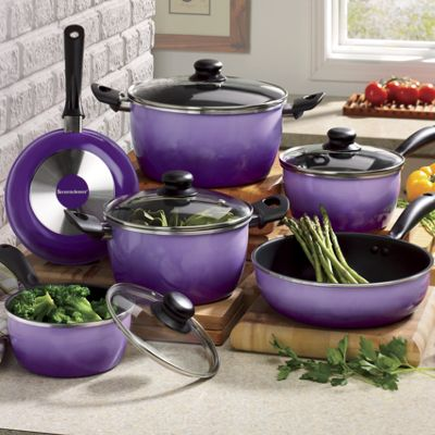 10-Piece Nonstick Flair Cookware Set by Seventh Avenue