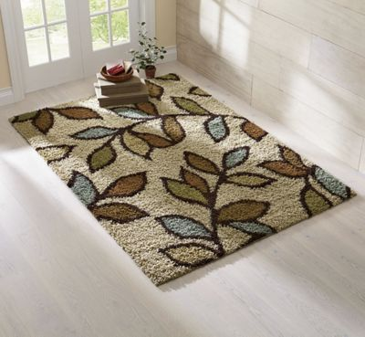 Shaggy Leaf Rug