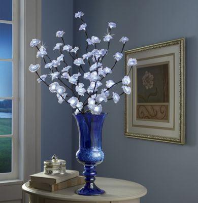 LED Roses and Blue Vase