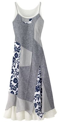 Chambray Patchwork Dress