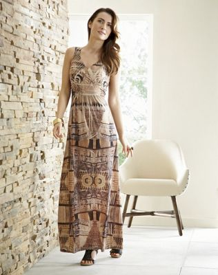 Ancient Ruins Maxi Dress