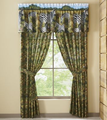 Zebra Kingdom Window Treatments
