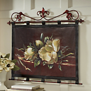 magnolia leatherette wall hanging