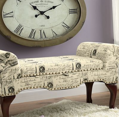 French Typography Bench