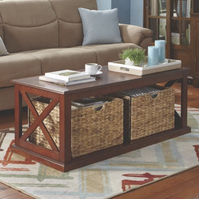 Basket Storage Coffee Table From Seventh Avenue 706853