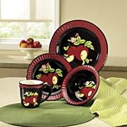 16-Piece Midnight Apple Dinnerware Set