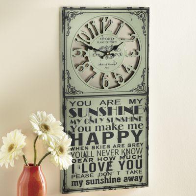 Sunshine Sign Clock