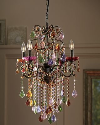 Colored Crystal Chandelier