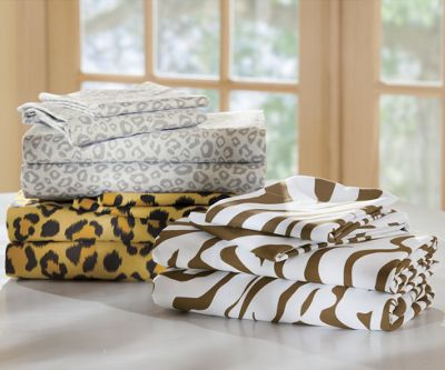Animal Print Microfiber Sheet Set