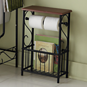 scroll bathroom tissue magazine holder