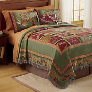 Flora and Fauna Throw-Style Bedspread, Pillow and Sham