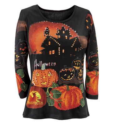 Halloween Knit Top