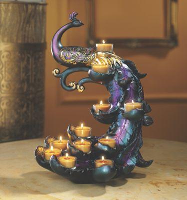 Peacock Tealight Holder