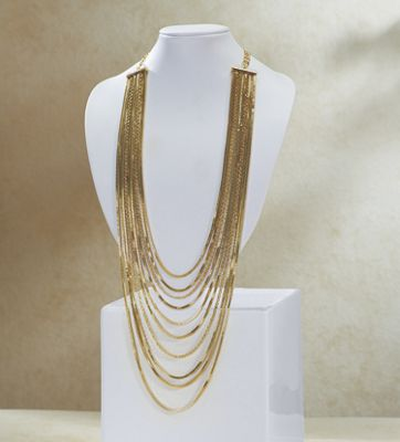 Long Multi-Strand Necklace