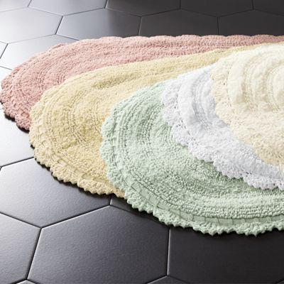 Crochet Border Bath Mat From Country Door Ni40200