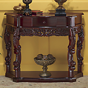 Carved Curved Console Table