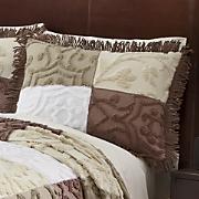 patchwork chenille sham