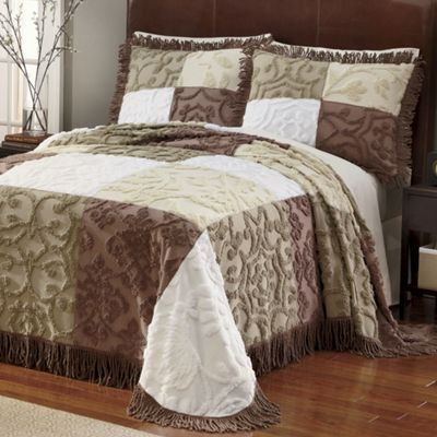 Patchwork Chenille Bedspread & Sham