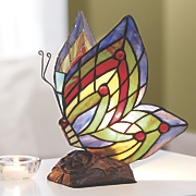stained glass butterfly lamp 116