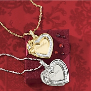 name heart bow pendant