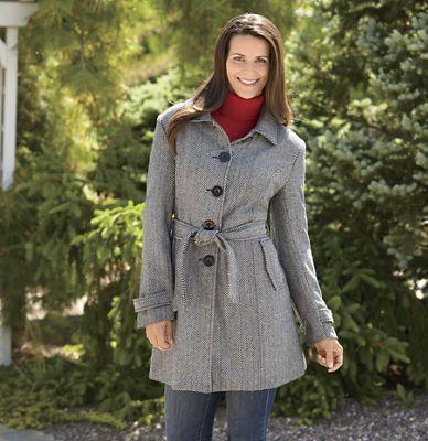 Herringbone Wool Blend Jacket by Totes
