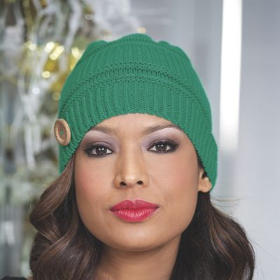 Knit Button Hat