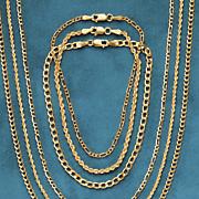 14k gold figaro chain bracelet