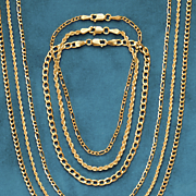 gold figaro bracelets