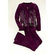 winter tree velour set