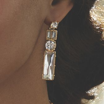 Crystal Post Earrings