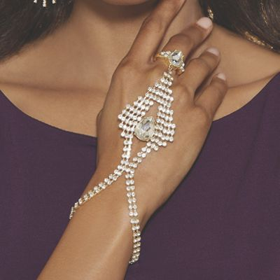 Pear Crystal Hand Jewelry