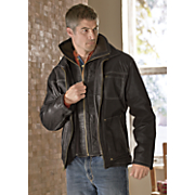 Double-Zip Leather Jacket