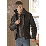 Double-Zip Leather Jacket