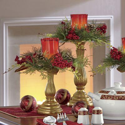 Crimson Elegance Candleholders