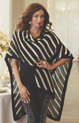Stripe Sweater Cape