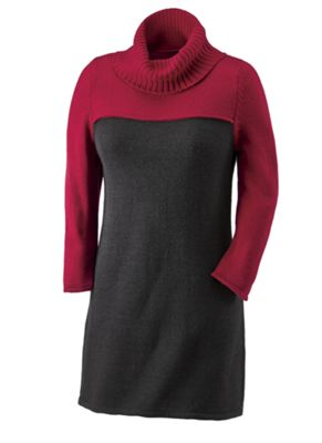 Essentials Colorblock Tunic Sweater