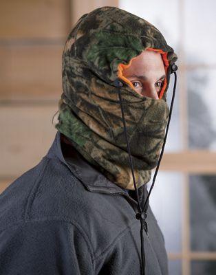 Reversible Camo/Blaze Orange Face Mask