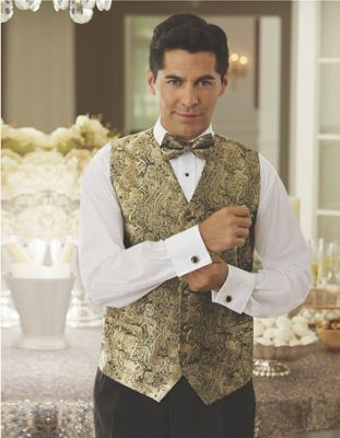 4-Piece Brocade Vest Set