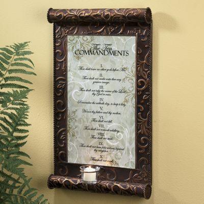 10 Commandments Candle Plaque From Seventh Avenue Dw714704