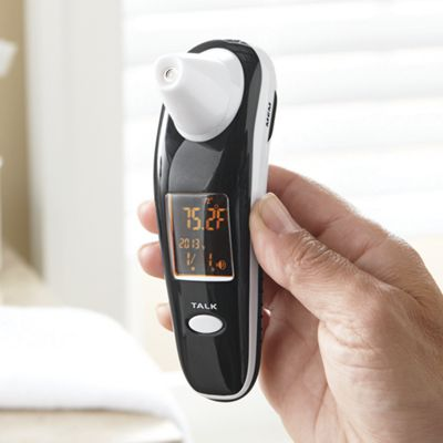 talking infrared ear and forehead thermometer from