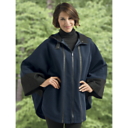 wool blend cape by totes