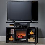 electric fireplace media center