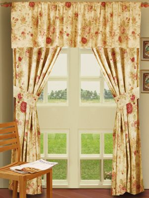 Antique Rose Bedding & Window Treatments